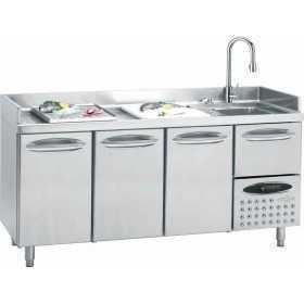 Table réfrigérée de préparation spéciale poisson 3 portes GN1/1 Positive