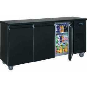 Arrière bar réfrigéré compact 3 portes pleines positive 520 L