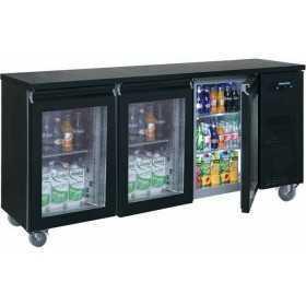 Arrière bar réfrigéré compact 3 portes vitrées positive 520 L