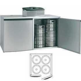 Chambre de refroidissement 4 fûts avec groupe réfrigérant