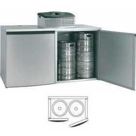 Chambre de refroidissement 2 fûts avec groupe réfrigérant